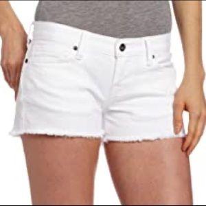 Lucky Brand white cut off riley denim shorts sz 27